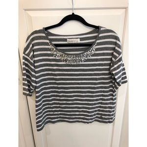 Abercrombie and Fitch Embellished Neck Shirt